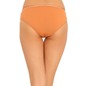Cotton Mid Waist Bikini With Lace Side Wings - Brown