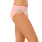 Cotton Mid Waist Bikini With Printed Lace - Pink