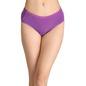Cotton Mid-Waist Bikini with Shiny Elastic Band - Purple
