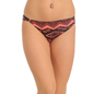 Cotton Mid Waist Bikini With Trimmed Elastic - Orange