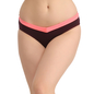 Cotton Mid Waist Colour Block Bikini - Purple