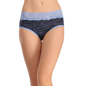 Cotton Mid Waist Hipster - Blue