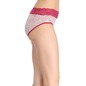 Cotton Mid Waist Hipster - Red