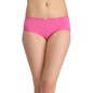 Cotton Mid-Waist Hipster with Centre Bow - Pink