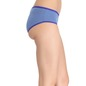 Cotton Mid Waist Hipster With Contrast Elastic Band - Blue
