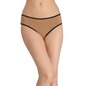 Cotton Mid-Waist Hipster With Contrast Elastic Band - Brown