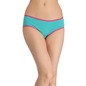 Cotton Mid-Waist Hipster With Contrast Elastic Band - Green
