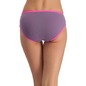 Cotton Mid Waist Hipster With Contrast Elastic Band - Purple