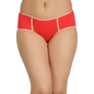 Cotton Mid Waist Hipster With Elastic Band - Orange