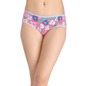 Cotton Mid Waist Hipster With Floral Print - Blue