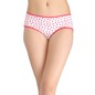 Cotton Mid-Waist Hipster with Floral Print - Red
