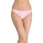 Cotton Mid-Waist Textured Print Bikini - Pink