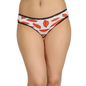 Cotton Mid Waist Bikini With Lace Trims - Red