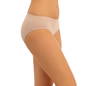 Cotton Mid Waisted Bikini - Skin