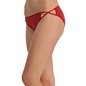 Cotton Mid Waisted Bikini With 2 Cross String - Maroon