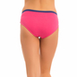 Cotton Mid Waisted Bikini With Contrast Elastic - Pink