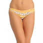 Cotton Mid Waisted Bikini With String Design - Yellow