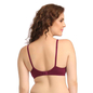 Cotton Non-Padded Wirefree Bra With Double Layered Demi Cups - Purple