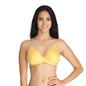 Cotton Non-Padded Non-Wired Bra with Transparent Straps & Back - Yellow