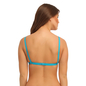 Cotton Non-Padded Wirefree Demi Cup Bra - Blue