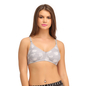 Cotton Non-Padded Wirefree Demi Cup Bra - Grey
