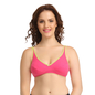 Cotton Non-Padded Wirefree Demi Cup Bra - Pink