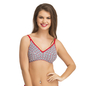 Cotton Non-Padded Wirefree Demi Cup Bra - Red