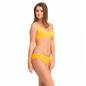 Cotton Non-Padded Wirefree Full Cup Bra & Mid Waist Bikini - Yellow