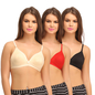Cotton Non-Padded Wirefree Plunge Demi Cup Bra