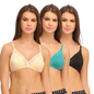 Cotton Non-Padded Wirefree Plunge Demi Cup T-shirt Bra