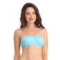 Cotton Non-Padded Wirefree Tube Bra With Detachable Transparent Straps - Blue