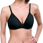 Cotton Non-Wired Non-Padded Bra In Black With Detachable Straps