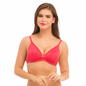 Cotton Non-Wired Non-Padded Bra In Pink With Detachable Straps