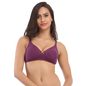 Cotton Non-Wired Non-Padded Everyday Bra In Purple With Demi Cups