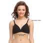 Cotton Padded T-Shirt Bra In Black With Detachable Straps