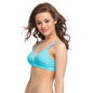 Cotton Padded T-Shirt Bra In Blue With Detachable Straps