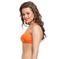 Cotton Padded T-Shirt Bra In Orange With Detachable Straps