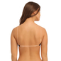 Cotton Padded Wirefree Bra With Detachable Straps & Transparent Back Band - Black