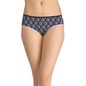 Cotton Printed Mid-Waist Hipster - Blue