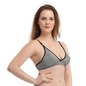 Cotton Printed Non-Padded Wirefree Demi Cup Bra - Grey