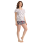 Cotton Printed Top & Shorts - Blue