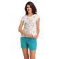 Cotton Printed Top & Shorts - Green