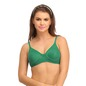 Cotton Rich Non Padded Wirefree T-Shirt Bra - Green