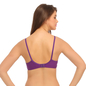 Cotton Rich Non Padded Wirefree T-Shirt Bra In Purple