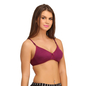 Cotton Rich T shirt Bra With Cross-Over Moulded Cups In Purple