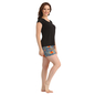 Cotton Solid T-shirt & Crepe Printed Shorts - Blue