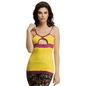 Cotton Spandex Camisole In Yellow