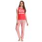Cotton T-shirt & Pyjama Set In Red