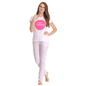 Cotton T-shirt & Pyjama Set In White