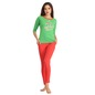Cotton T-Shirt With Slim Fit Coral Leggings
